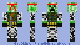 RAMBO CREEPER Minecraft Skin