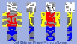 Colourful and random Minecraft Skin