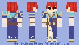 Raven, Peerless Fighter (Fire Emblem: The Blazing Blade) (4px eyes in description) Minecraft Skin