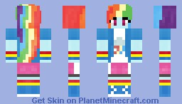 Rainbow Dash Equestria Girls Minecraft Skin