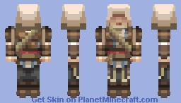 Edward Kenway Updated 3d Black Flag 4px arms Minecraft Skin