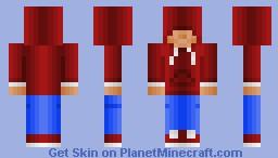 red hoodie dude (skin request) Minecraft Skin