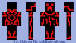 Minecraft Skin - Red Tron Creeper Minecraft Skin
