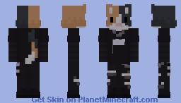 Sad Calico Minecraft Skin
