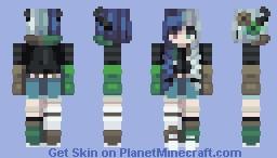 Shades Of Green Minecraft Skin
