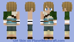 Ordon outfit link - Twilight Princess [Revamped] Minecraft Skin