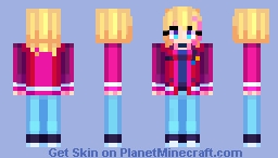 Rika Kawai Wonder Egg Priority Minecraft Skin
