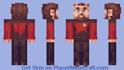 Commander Will Riker Star Trek TNG Minecraft Skin