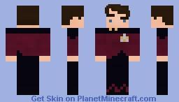 First Officer / No.1 Will Riker | Star Trek | S1 ( Beardless ) Minecraft Skin