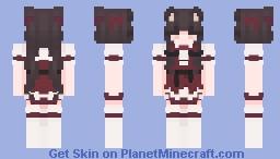 chocola red dress - request Minecraft Skin