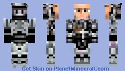 Robocop BattleDamaged Minecraft Skin