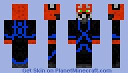 rpg skin blue tron Minecraft Skin