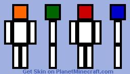 rubix cube head Minecraft Skin
