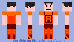 Fire Ace the Superhero Minecraft Skin