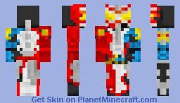 Kamen Rider Saber Dragon Arthur Minecraft Skin