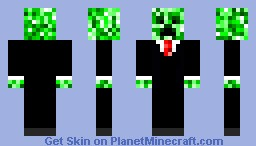 Sophisticated Creeper Minecraft Skin