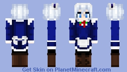Sakuya Izayoi - Touhou Minecraft Skin