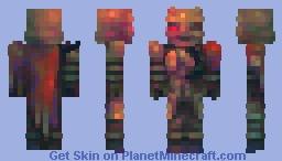 post apocalyptic demon samurai Minecraft Skin