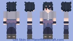 Sasuke Uchiha | Vs. Kaguya | Naruto Shippuden Minecraft Skin