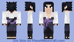 Sasuke Uchiha (White Robe) (Naruto Shippuden) (1.8) Minecraft Skin
