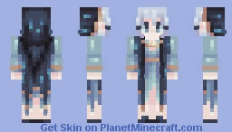 Cloaks are h a rd but its for the witchy fashion babeeyyy Minecraft Skin
