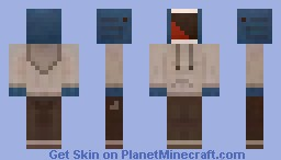 Screaming Whale in Hoodie Minecraft Skin