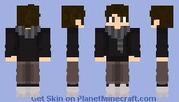 IDHD SKIN || With a COOL SCARF Minecraft Skin
