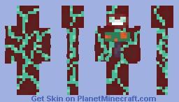 Warped log man (depth of the nether contest) Minecraft Skin