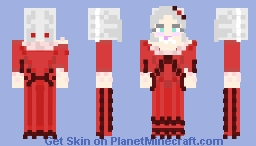Marie antoinette red dress Minecraft Skin