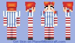 Wendy's Girl (Looks better in 3D) Minecraft Skin