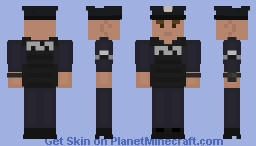 LSPD Officer with Vest [Caucasian Male] Minecraft Skin