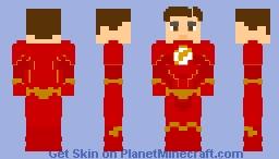 Barry Allen Season 6 Suit — Unmasked - CW Minecraft Skin