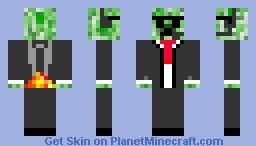 Secret agent creeper Minecraft Skin