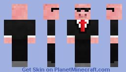 Secret Agent Pig! Minecraft Skin