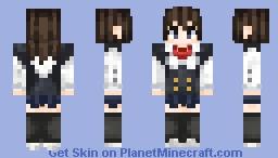 Sekai Saionji - School Days Minecraft Skin