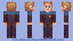 Seven of Nine (starfleet uniform) Star Trek Voyager Minecraft Skin