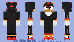Shadow The Hedgehog (Movie) Minecraft Skin