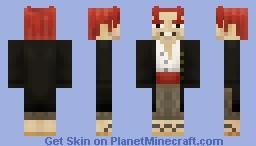 Red-Haired Shanks - One Piece Minecraft Skin