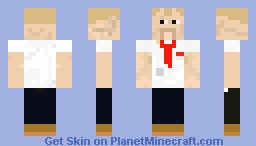 Shaun of the dead Minecraft Skin