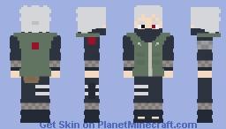 Shikamaru Nara [Kakashi Hatake Cores] [Chunin] [Naruto: Shippuden] [E se...?] [Versão #01] Minecraft Skin
