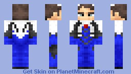 shinji Uint suit (reupdated) Minecraft Skin