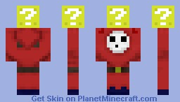 Shy Guy Steals ? Block (more colors in description) Minecraft Skin