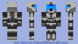 silver odst Minecraft Skin