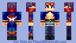 Commander Simon, Captain of the Dai Gurren Minecraft Skin