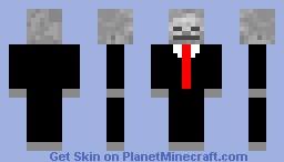Skeleton in a Suit Minecraft Skin