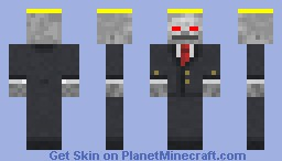 Evil angel skeleton Minecraft Skin