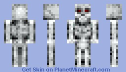 Skeleton (moving mouth) look in 3D Minecraft Skin