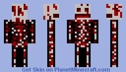 Bloody Skeleton Minecraft Skin