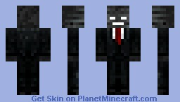 Wither, Wither skeleton Suit [White eyes, Tie Red] [Looks better in preview] [Link in desc for naked wither, black eyes, red tie and black tied wither!]
