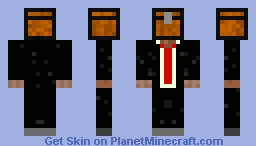 Chest head with suit Minecraft Skin